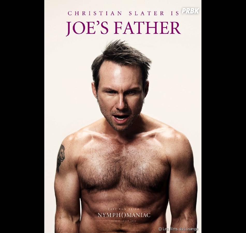 Nymphomaniac : l'affiche avec Christian Slater