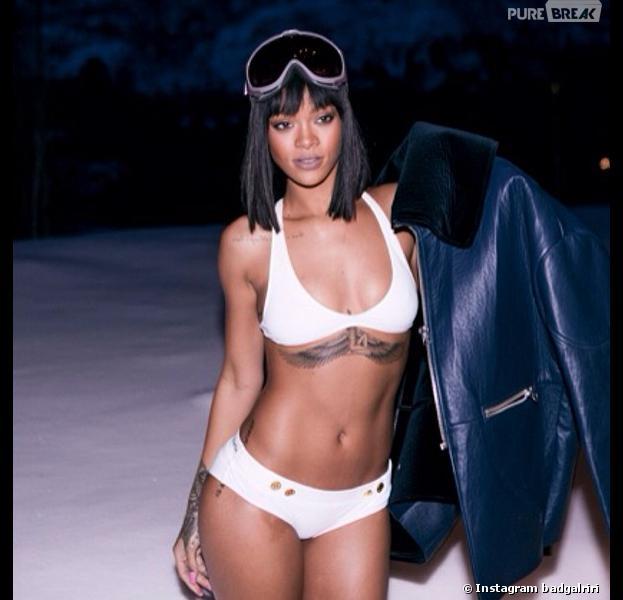 Rihanna en bikini pendant son séjour à Aspen