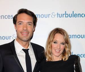 Nicolas Bedos et Ludivine Sagnier , partenaires dans le film Amour & turbulences
