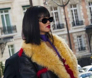 Rihanna au défilé Miu Miu au Palais d'Iéna pendant la Fashion Week de Paris, le 5 mars 2014