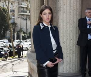 Adèle Exarchopoulos au défilé Miu Miu au Palais d'Iéna pendant la Fashion Week de Paris, le 5 mars 2014