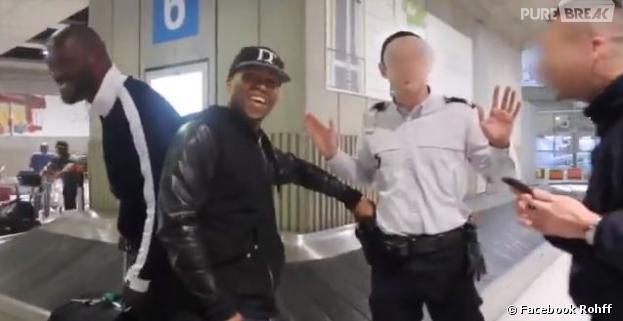 Rohff prend des photos avec des policiers
