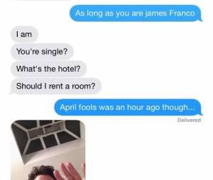 James Franco : message de drague sur Instagram