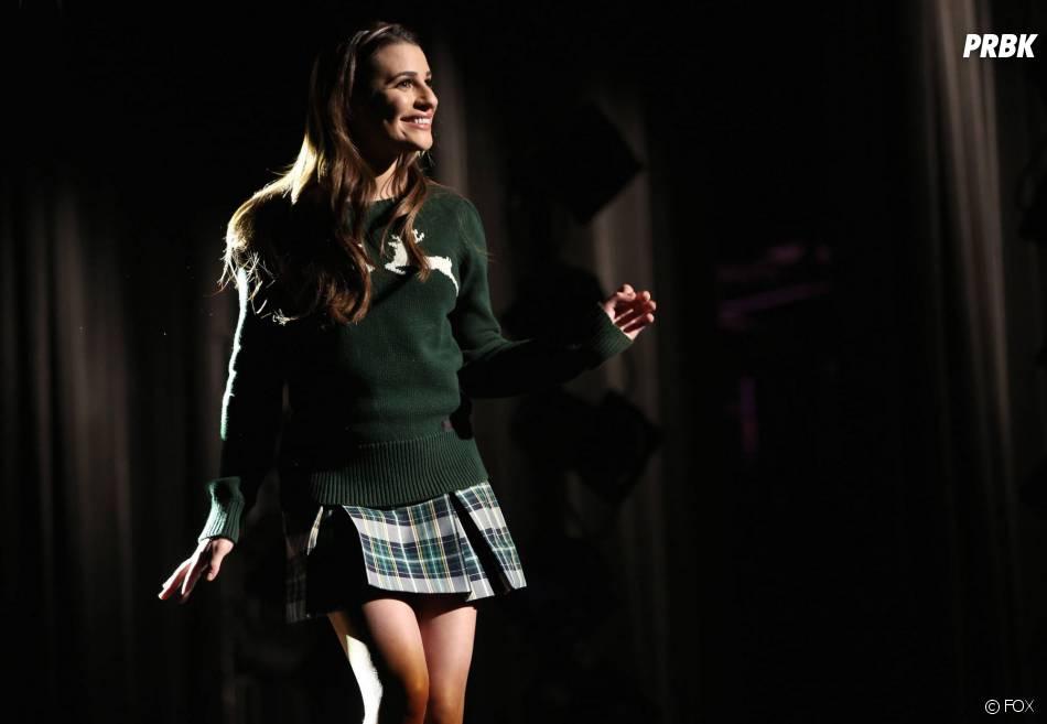 Glee saison 5, épisode 17 : Lea MIchele sur une photo