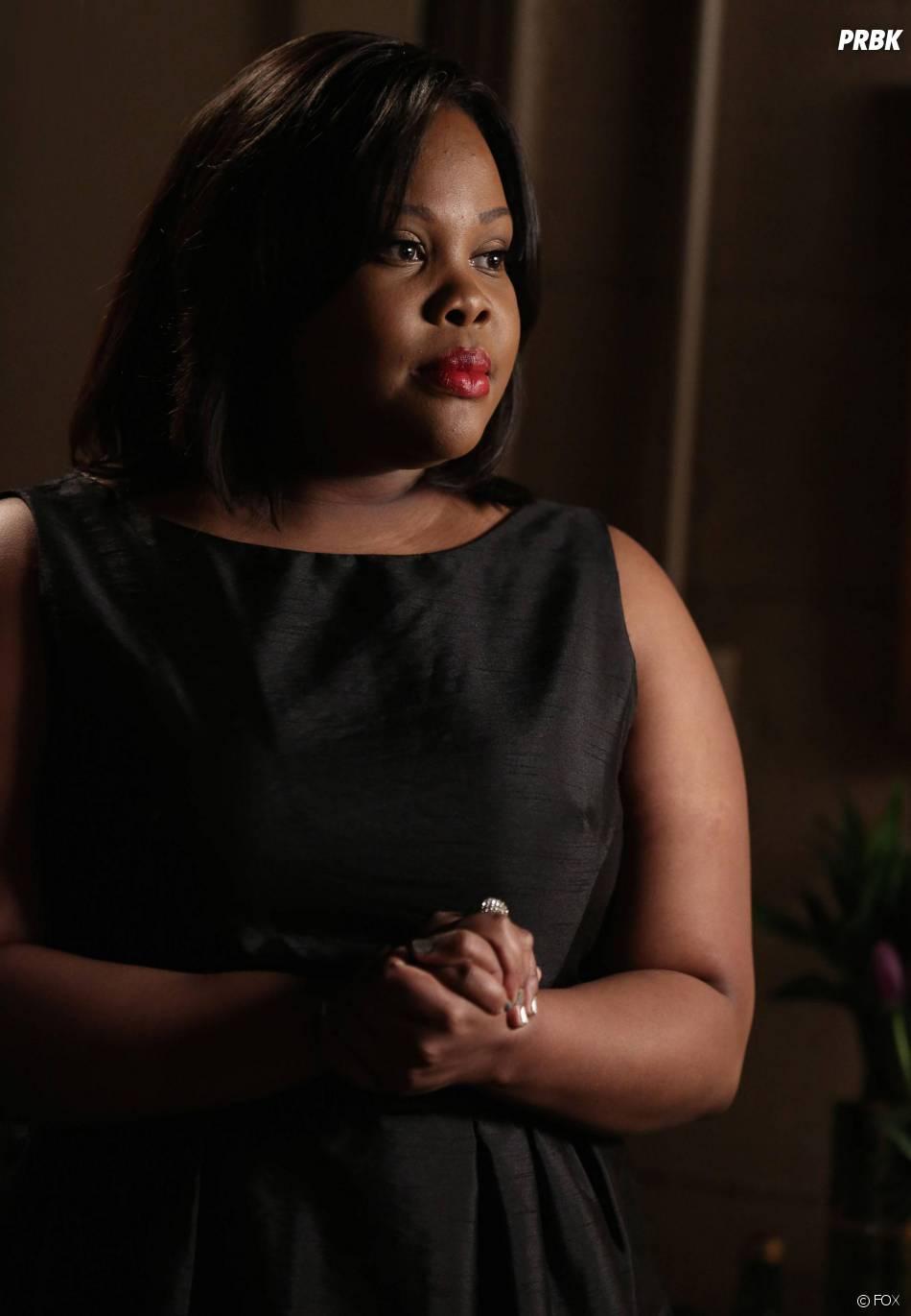 Glee saison 5, épisode 17 : Amber Riley sur une photo
