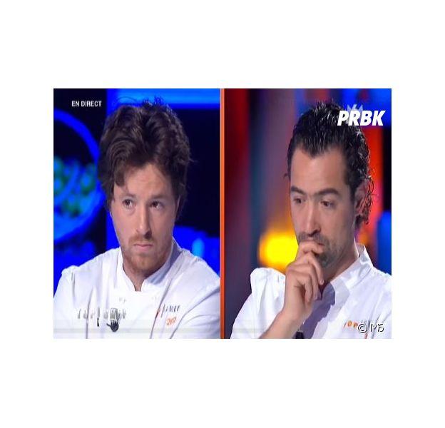 Top Chef 2014 : Pierre Augé vainqueur du choc des champions face à Jean Imbert, très déçu, le 28 avril 2014 sur M6