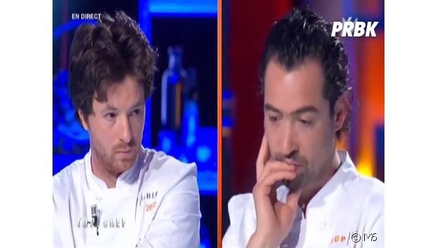 Top Chef 2014 - choc des champions : la tête de déception de Jean Imbert, le 28 avril 2014 sur M6