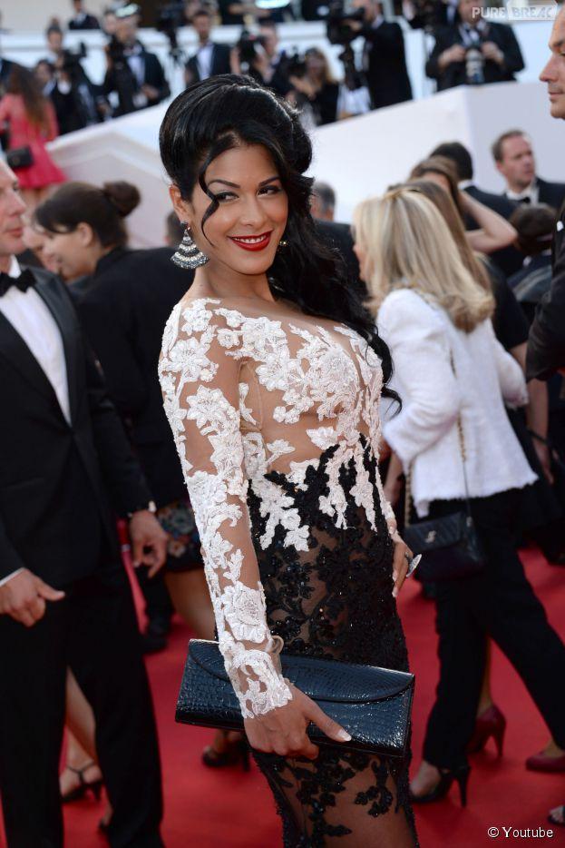 Ayem Nour ravissante sur le tapis rouge du Festival de Cannes, le 16 mai 2014