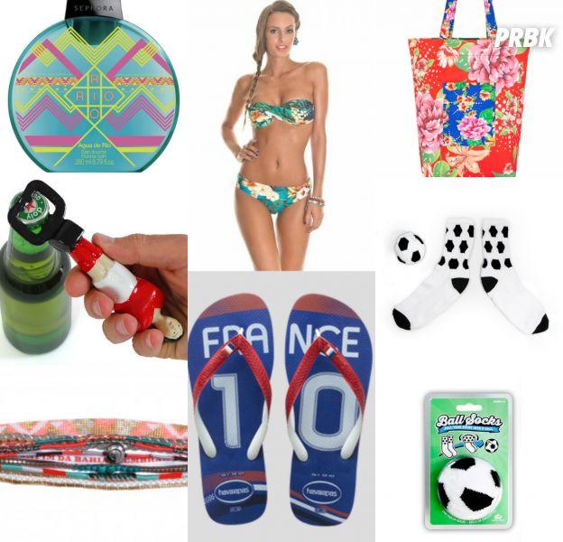 Coupe du Monde 2014 : tongs, bracelet, sac, décapsuleur... 7 objets mode et déco pour se mettre à l'heure brésilienne