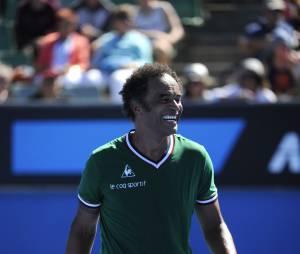 Yannick Noah au tournoi des légendes pendant l'Open d'Australie 2014