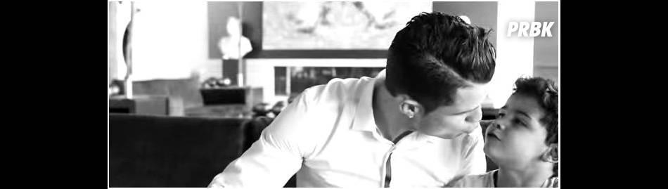 Cristiano Ronaldo et son fils complices dans une vidéo Tag Heuer