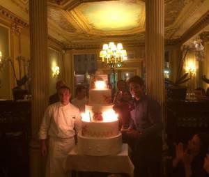 Rafael Nadal : gros gâteau d'anniversaire au Café de la Paix, mardi 3 juin 2014 à Paris