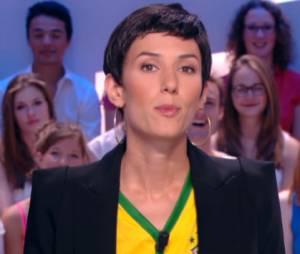 Doria Tillier dans la peau de Cristina Cordula pour le lancement de la Coupe du Monde 2014