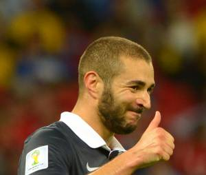 Mondial 2014 : Karim Benzema heureux pendant France/Honduras