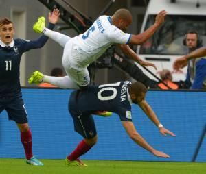 Mondial 2014 : Karim Benzema à terre pendant France/Honduras