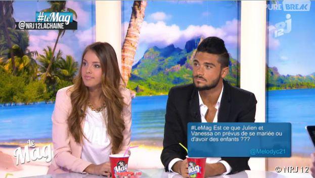 Les Anges 6 : Vanessa Lawrens et Julien Guirado dans le Mag de NRJ 12, le 18 juin 2014