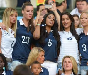 Les femmes des Bleus lors du match de l'équipe de France contre l'Equateur au Mondial 2014, le 25 juin 2014
