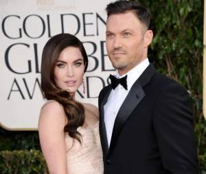 Megan Fox et son petit-amiBrian Austin Green aux Golden Globe Awards, le 13 janvier 2013