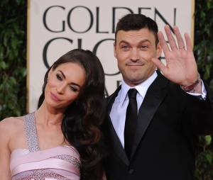 Megan Fox et Brian Austin Green aux Golden Globe Awards, le 13 janvier 2013