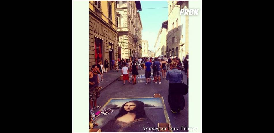 Laury Thilleman : vacances à Florence en juillet 2014