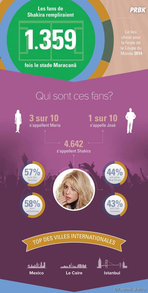Shakira : record de fans sur Facebook