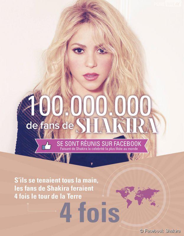 100 millions de Fans sur la page Facebook de Shakira