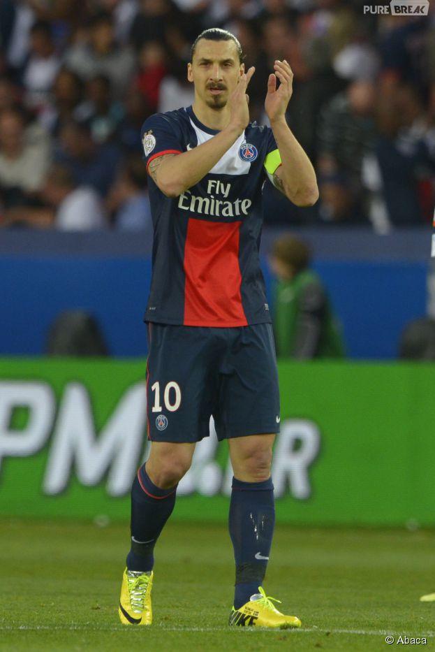 Zlatan Ibrahimovic lors du match PSG - Montpellier, le 17 mai 2014