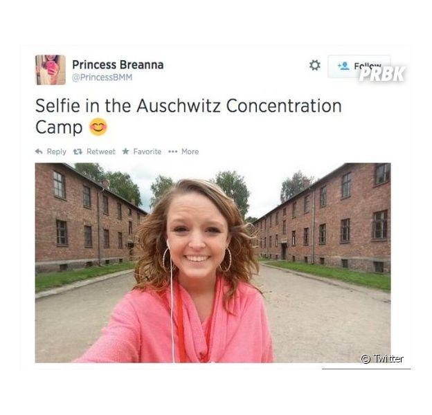 Badbuzz pour une adolescente qui a posté un selfie d'elle dans le camp de concentration d'Auschwitz