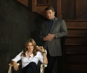 Castle saison 6 : photo avec Stana Katic et Nathan Fillion