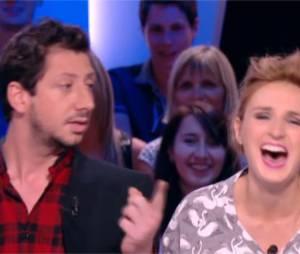 Alison Wheeler et Monsieur Poulpe délirants pour leur première à la météo de Canal+ le 9 septembre 2014