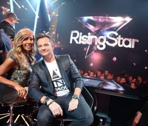 Rising Star : Cathy Guetta et David Hallyday pour l'avant première de l'émission, le 15 septembre 2014