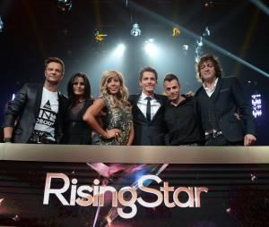 Rising Star : le jury, Faustine Bollaert, Guillaume Pley pour l'avant première de l'émission, le 15 septembre 2014