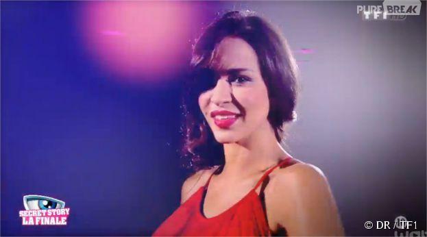 Leila pendant la finale de Secret Story 8, le 26 septembre 2014 sur TF1
