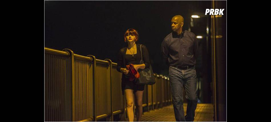 The Equalizer : Chloë Moretz et Denzel Washington