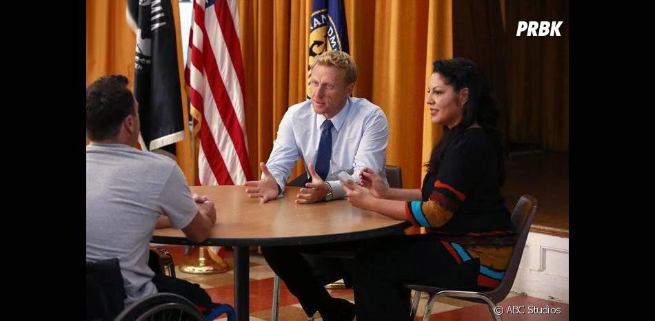 Grey's Anatomy saison 11, épisode 3 : Sara Ramirez et Kevin McKidd sur une photo
