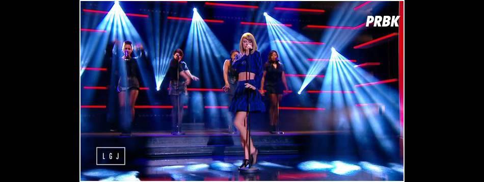 Taylor Swift sexy sur le plateau du Grand Journal, le 6 octobre 2014