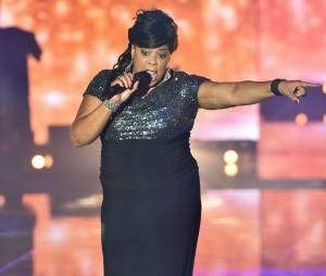 Rising Star : Sheila Ray Charles sur le plateau de l'émission, le 10 octobre 2014