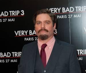 Zach Galifianakis à Paris pour l'avant-première de Very Bad Trip à Paris en 2013