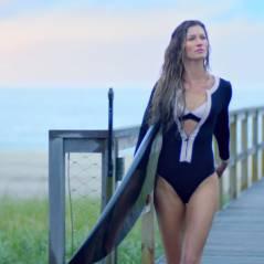 Gisele Bündchen : surfeuse sexy et femme fatale pour la nouvelle pub de Chanel 5