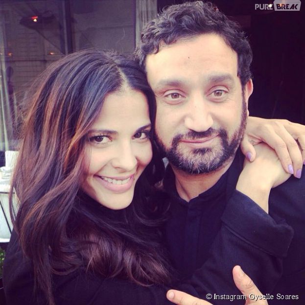 Gyselle Soares avec Cyril Hanouna sur Instagram, le 25 août 2014