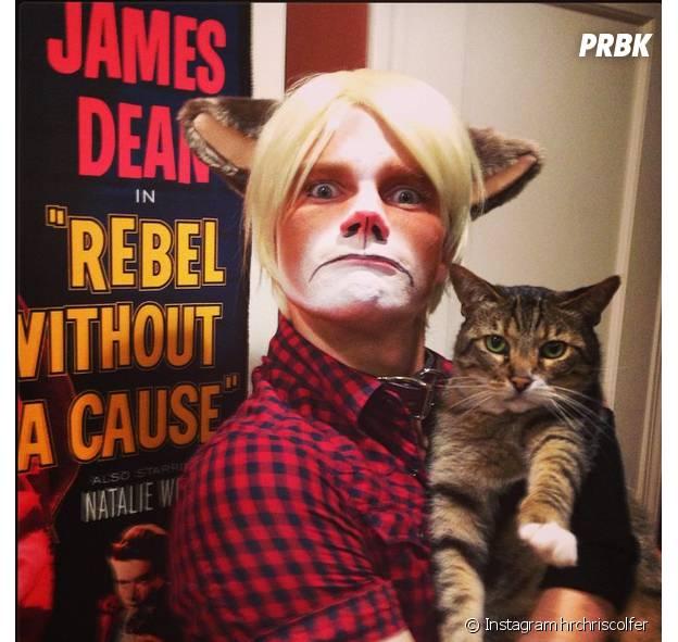 Chris Colfer en Grumpy Cat