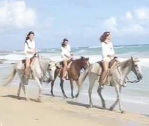 Miss France 2015 : les 33 prétendantes s'essaient au cheval à Punta Cana