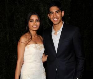 Freida Pinto et Dev Patel en couple pour un dîner pré-Oscars, le 25 février 2012 à Los Angeles