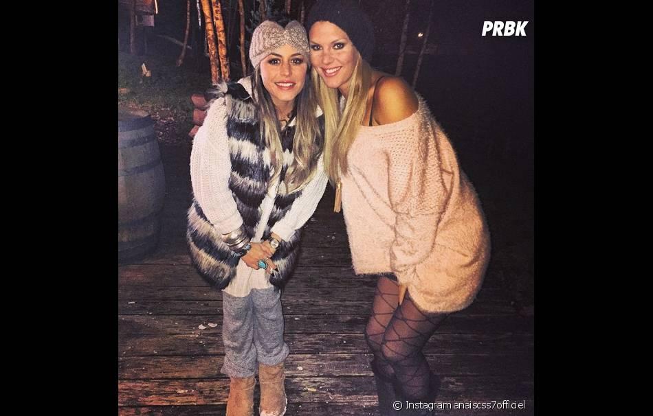 Anaïs Camizuli et Amélie Neten sur le tournage des Anges fêtent Noël, le 11 décembre 2014
