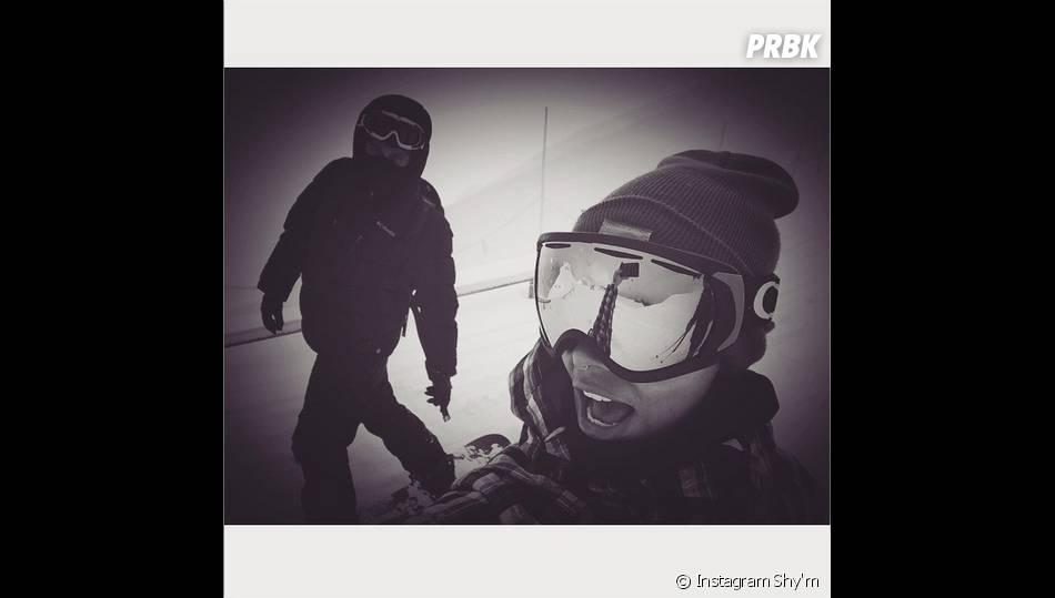 Shy'm s'amuse au ski en janvier 2015