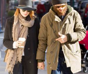 Emma Stone et Andrew Garfield : couple discret à New York, le 29 décembre 2014