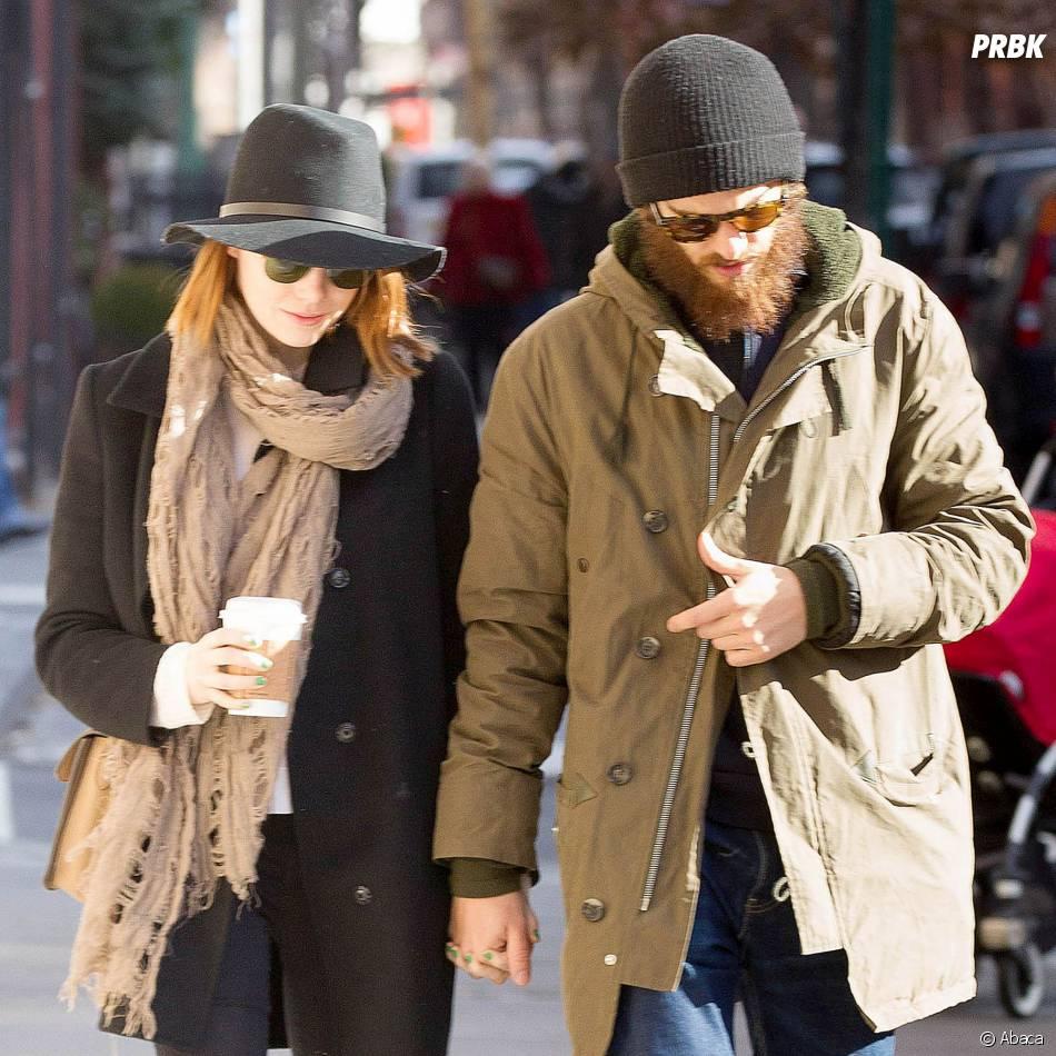 Emma Stone et Andrew Garfield : couple discret à New York, le 29 décembre 2014