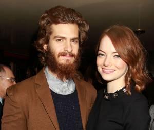 Emma Stone et Andrew Garfield en couple à un dîner en l'honneur du film Birdman, le 5 janvier 2015 à New York