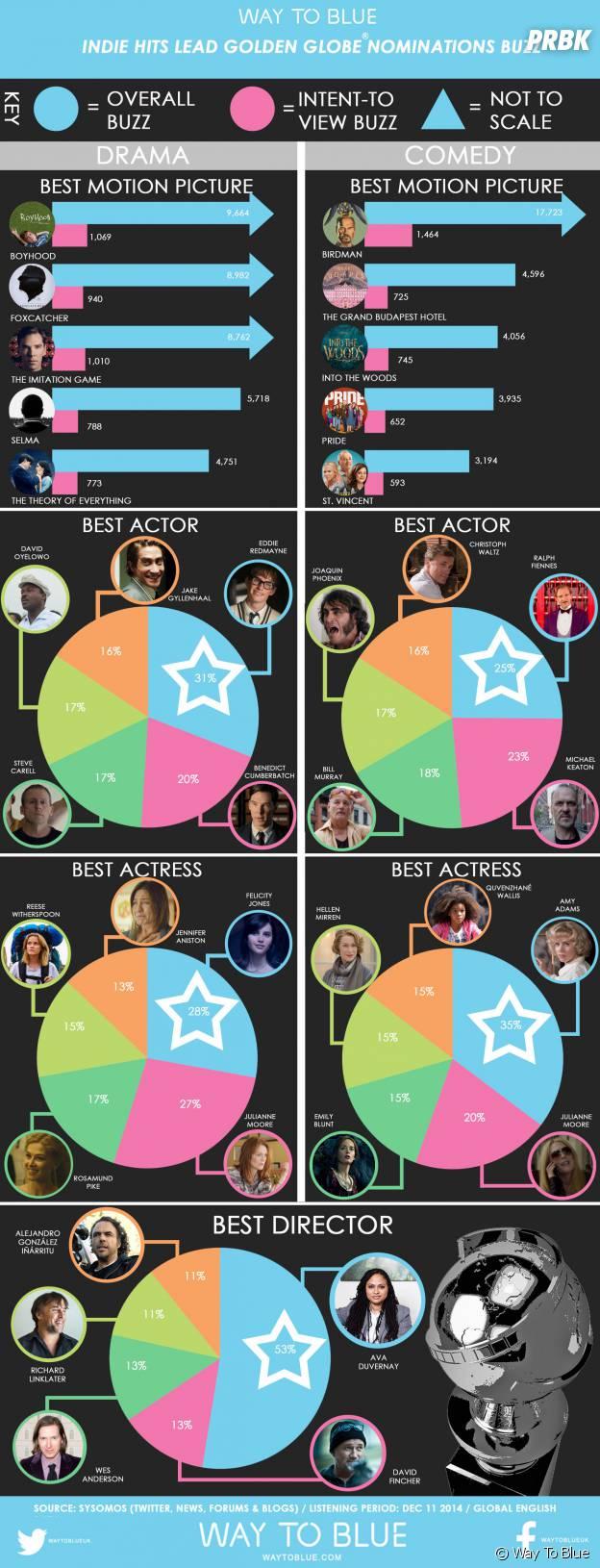 Golden Globes 2015 : les gagnants du web de la catégorie cinéma