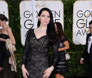 Laura Prepon sur le tapis rouge des Golden Globes, le 11 janvier 2015 à Los Angeles